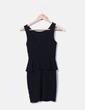 Vestido negro volante Zara
