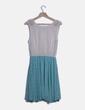 Vestido gasa combinado bicolor Holly Bracken