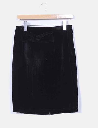 Falda negra de terciopelo NoName