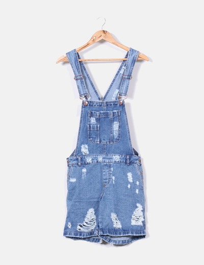 Peto denim con rotos Asos