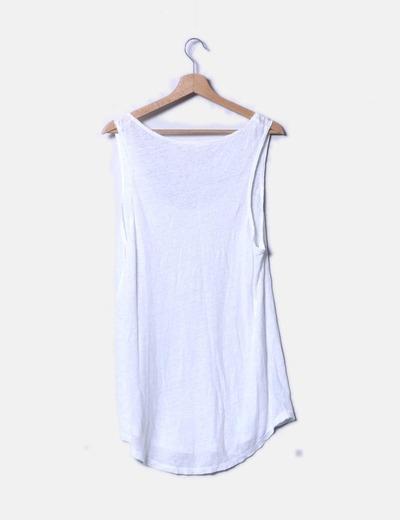 Camiseta blanca de tirantes
