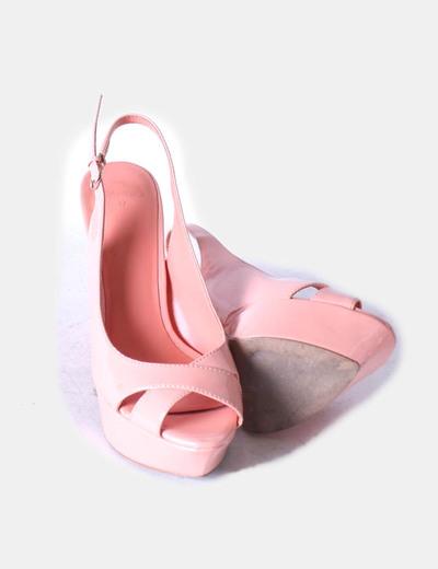 Sandalias charol rosa palo