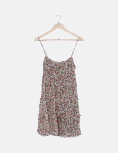 Vestido tirantes volante floral