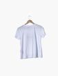 Camiseta blanca bordado con abalorios Uterqüe