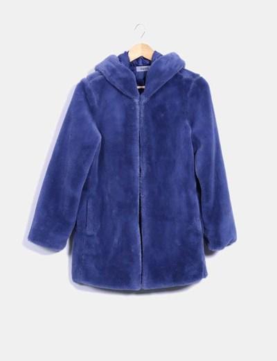 326ad813590 King Kong Abrigo de pelo con capucha azul (descuento 76%) - Micolet
