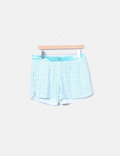 Shorts fluido azul