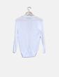Jersey blanco con calados Zara