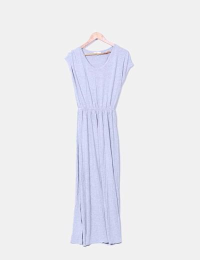 Vestido fluido gris con aberturas laterales H&M