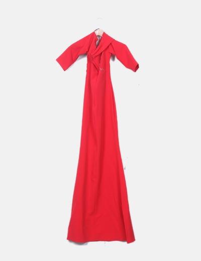 Maxi Bardot Vestido Bardot Escote Escote Rojo Maxi Maxi Vestido Rojo Vestido dBsrCxhQot
