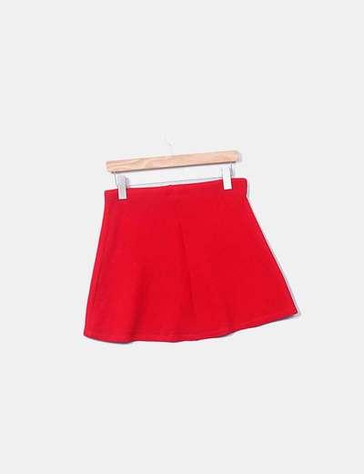 42280ff89 Zara Falda roja skater texturizada (descuento 69%) - Micolet