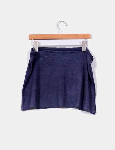 Falda azul marina