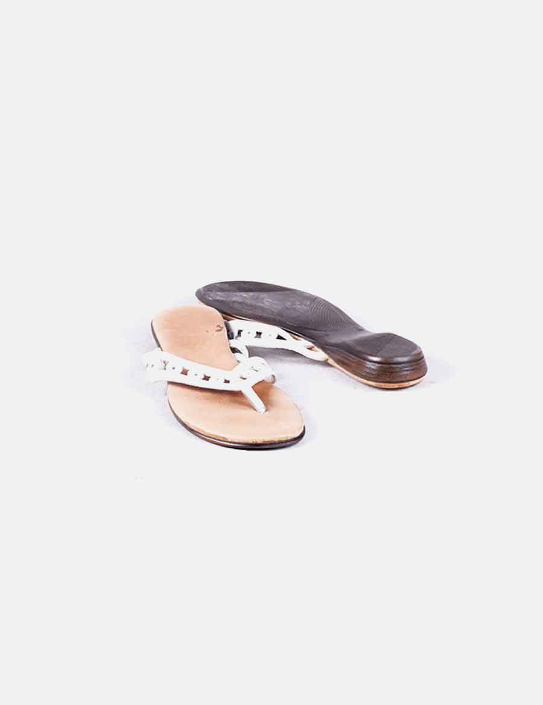 Required Mujer Zapatos Xuuzwgqyn Noname Plana Blanca De Sandalia 3uJ5TK1clF