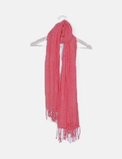 Foulard rojo flecos