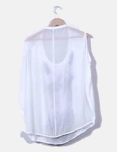 Camiseta blanca print caballo
