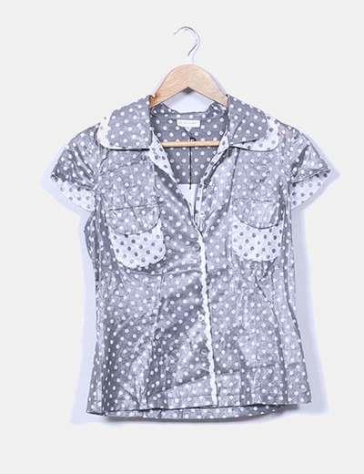 Camisa gris topos Alba Conde