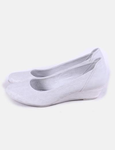Zapato cuña plateado