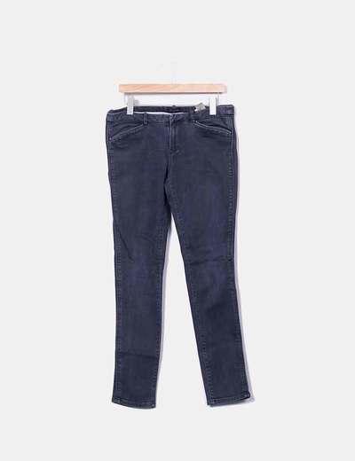 Jeans gris efecto desgastado