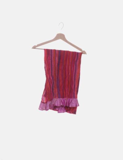 Pañuelo rosa de rayas
