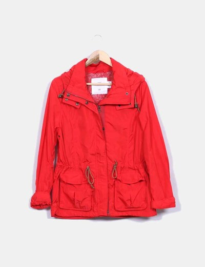 Micolet descuento amp;m Roja Impermeable H 71 Chaqueta IYBFFn0