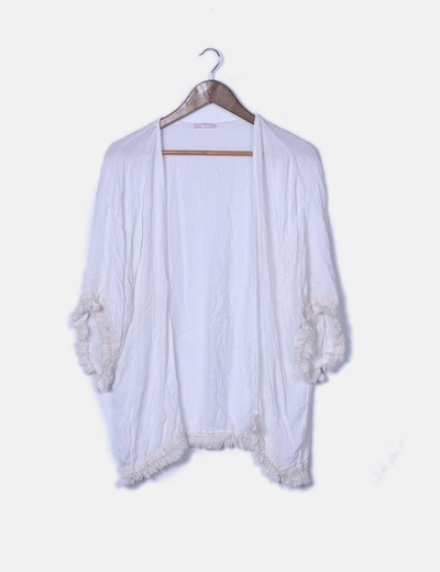 Kimono blanco fluido