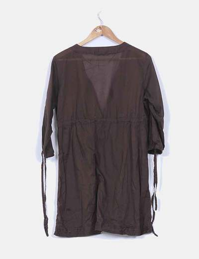 Camisola marron popelin