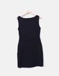 Vestido negro de tirantes detalles plisados Zara