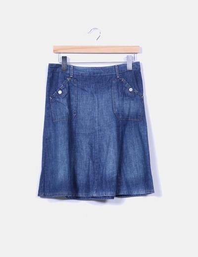 Falda mini vaquera H&M