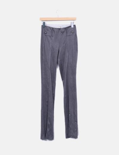 Pantalon tercipelo gris