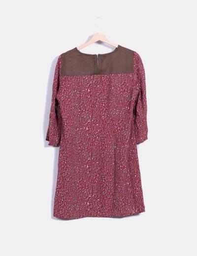 Vestido mini print combinado