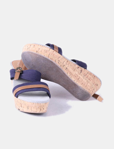 Sandalia con cuna bicolor