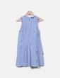 Vestido azul cuadro vichy Zara