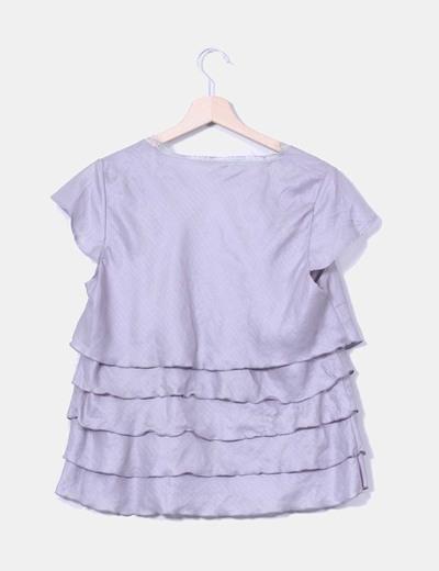 Blusa gris varias capas