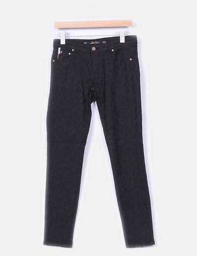 Pantalón  brocado detalle  cremalleras  Zara
