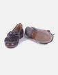 Zapato marrón con flecos Uterqüe