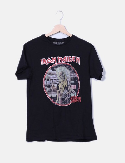 Camiseta negra iron maiden