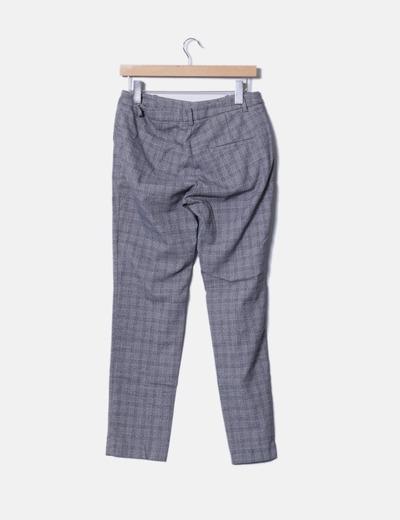 26fa9457d5 H M Pantalón chino de cuadros gris (descuento 82%) - Micolet