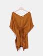 Vestido oversize mostaza texturizado Amichi