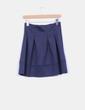 Flared skirt navy blue with zipper Sfera