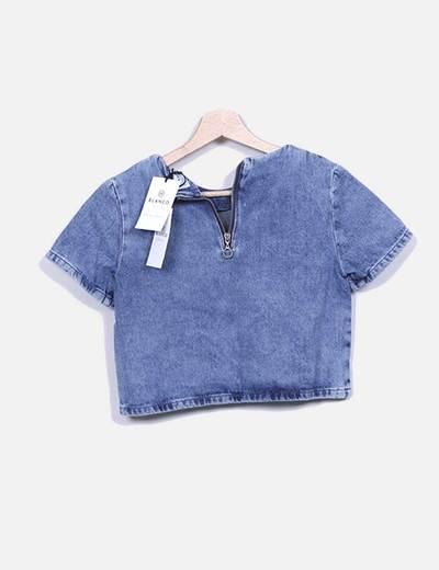 Camiseta denim azul
