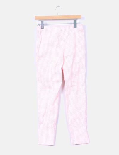 Pantalon estampado retro rosa