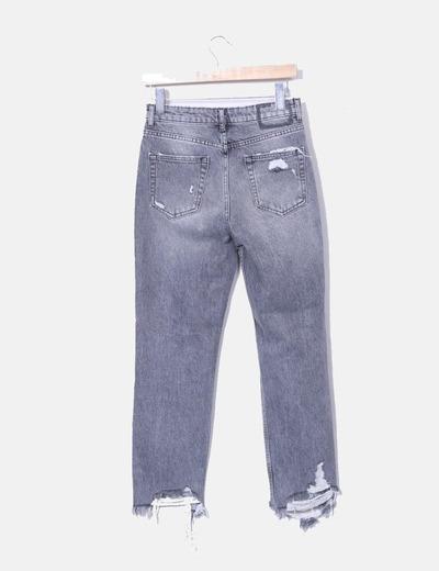 Bershka Denim gray mon fit denim jeans (discount 53%) - Micolet dca099ba9f76