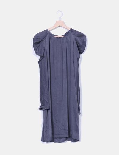 Vestido midi con mangas abullonadas Zara