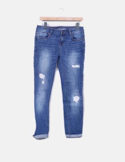 Jeans denim délavés Grain de Malice