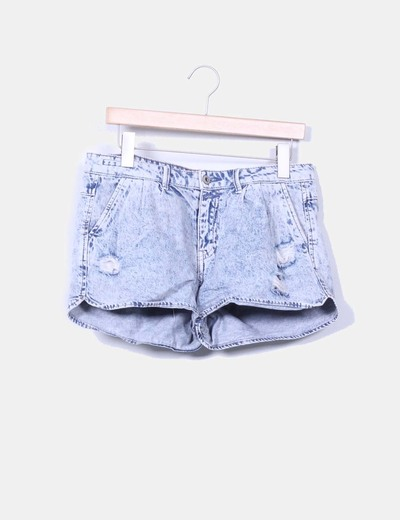 Short vaquero con rotos Lefties
