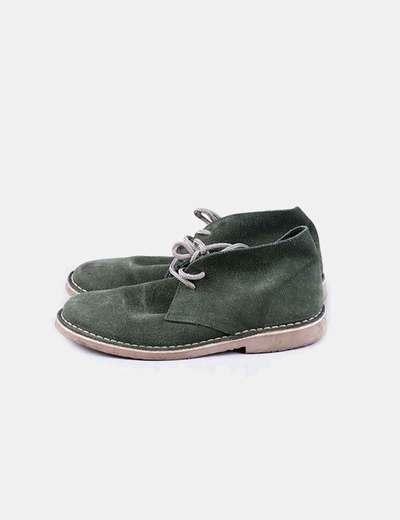 Zapato verde acordonado NoName
