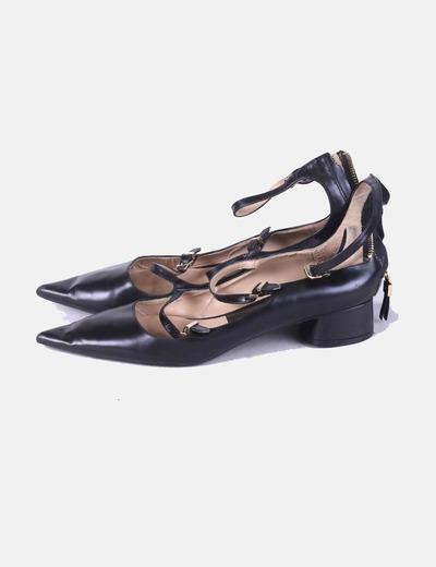 Bailarinas negras con hebillas Zara