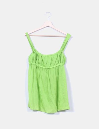 Top verde pistacho Zara