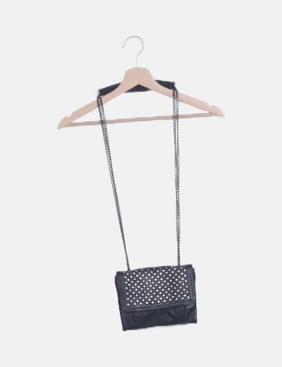 Bolso mini negro con tachas