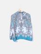Blusa estampada azul Cortefiel