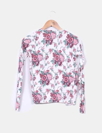Chaqueta tricot floral
